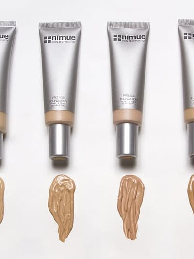 Nimue pro age foundation, six shades, salon beauty Victoria, Nimue stockist London
