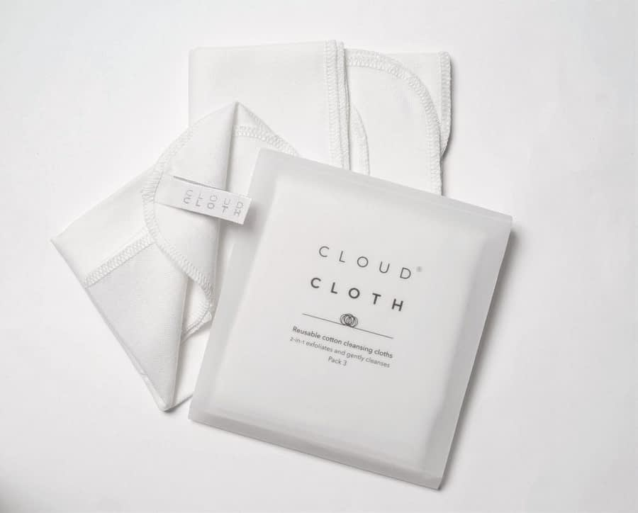 CloudCloth® Reusable Cotton Dual Muslin Face Cleansing Cloths.