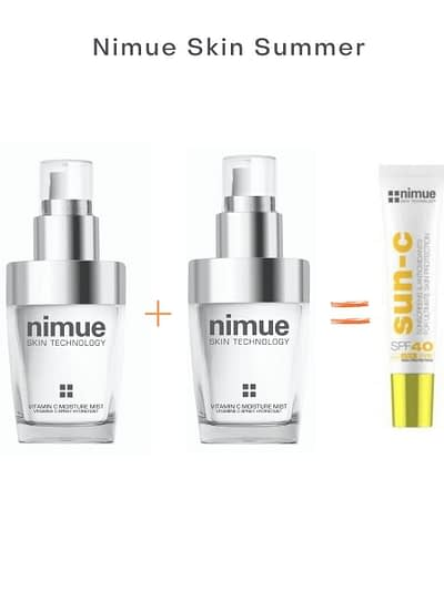 Nimue Skin International-Skin Technology- Esse&Co Beauty London- Nimue Skin Summer Vitamin c Mist Promotion