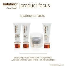 Kalahari Treatments Masks - Activated Chacecoal Mask - Vita- gel mask - Phyto Firming mask - Nourishing Face and Neck Mask