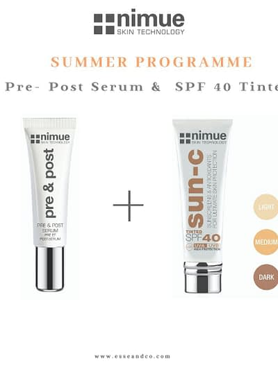 Nimue Skin Technology SPF 40 Tinted + pre-post programme Summer